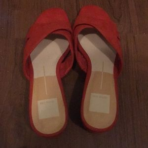 Dolce vita red sandals size 8